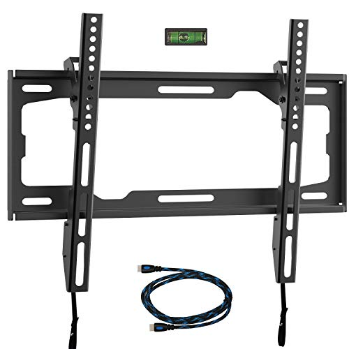 WALI Tilt TV Wall Mount Bracket for Most 26-55 inches LED, LCD, OLED Flat Screen TVs up to 99lbs with VESA 100x100mm to 400x400mm (TTM-1), Black
