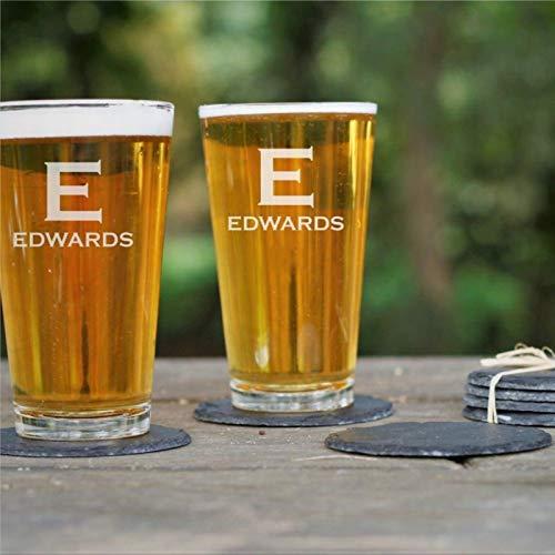 Juego de 2 vasos grabados para novios, regalo de cerveza, regalo de...