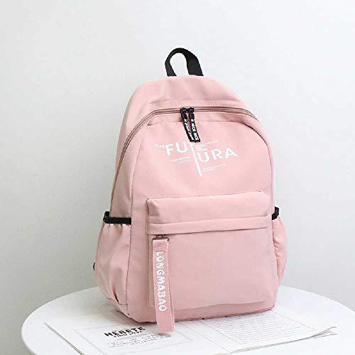 NUOLAN Large Capacity School Backpack Shoulder Bag School Bag for Teenager Girls Boys Nylon Backpack Women Men Backpack 1PCS/Pink