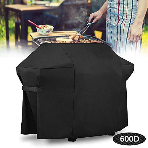 Couverture de Barbecue Imperméable, Housses pour Barbecue Anti-décoloration, Housse de Protection BBQ avec Sangle Ajustable Coupe-Vent, Anti-UV, Résistant à la Déchirure - Noir,152x76x120 cm