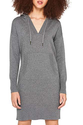 edc by ESPRIT Damen 109CC1E010 Kleid, Grau (Gunmetal 5 019), Medium (Herstellergröße: M)
