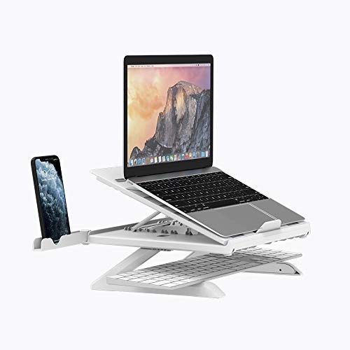"""GoZheec Tronsmart Supporto PC Portatile Supporto per Laptop Angolazione Regolabile Porta Notebook Pieghevole Supporto per MacBook Air/PRO, dell, XPS, HP, Lenovo And Other 10""""–17"""" Laptops (Bianca)"""