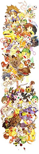 JUNLIZHU Digimon Adventure Bokura no War Game (35cm x 136cm | 14inch x 54inch) Silk Print Poster Silk Printing / C7F08D