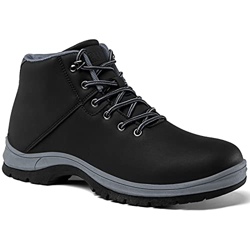 Men's Lightweight Hiking Boots Water Resistant Anti Slip Boot Mid Ankle Breathable Work Casual Hiker Trekking Outdoor Shoes