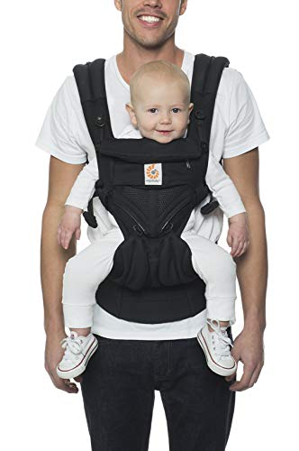 Ergobaby Omni 360 All-Position Baby Carrier for Newborn to Toddler with Lumbar Support and Cool Air Mesh (7-45 Pounds), Onyx Black