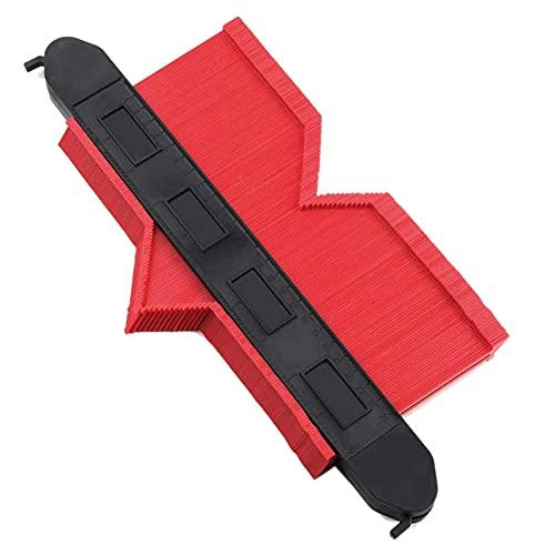 POMNEFE Medidor de contorno, medidor de duplicación de contornos de plástico, herramienta de dibujo y marcado de patrones irregulares, herramienta general para laminado de baldosas de cerámica