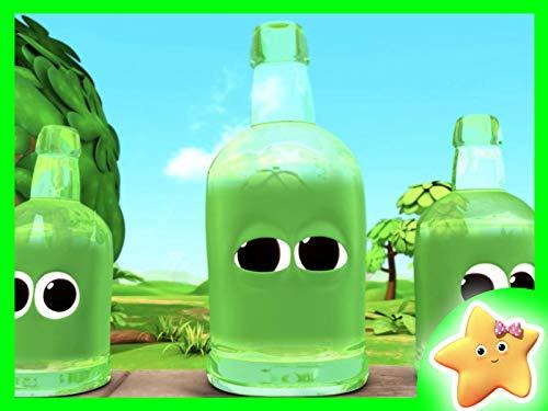10 grüne Flaschen