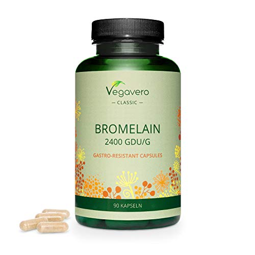 Bromelain 500mg Vegavero | Digestion Enzyme Supplement with 2400 GDU/g | NO Additives | 90 Capsules | Natural Digestion Support | 100% Vegan