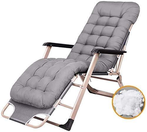 Tumbona plegable para jardín, cómoda y reclinable, plegable, ajustable, para exteriores, con cojines y sillas de terraza.