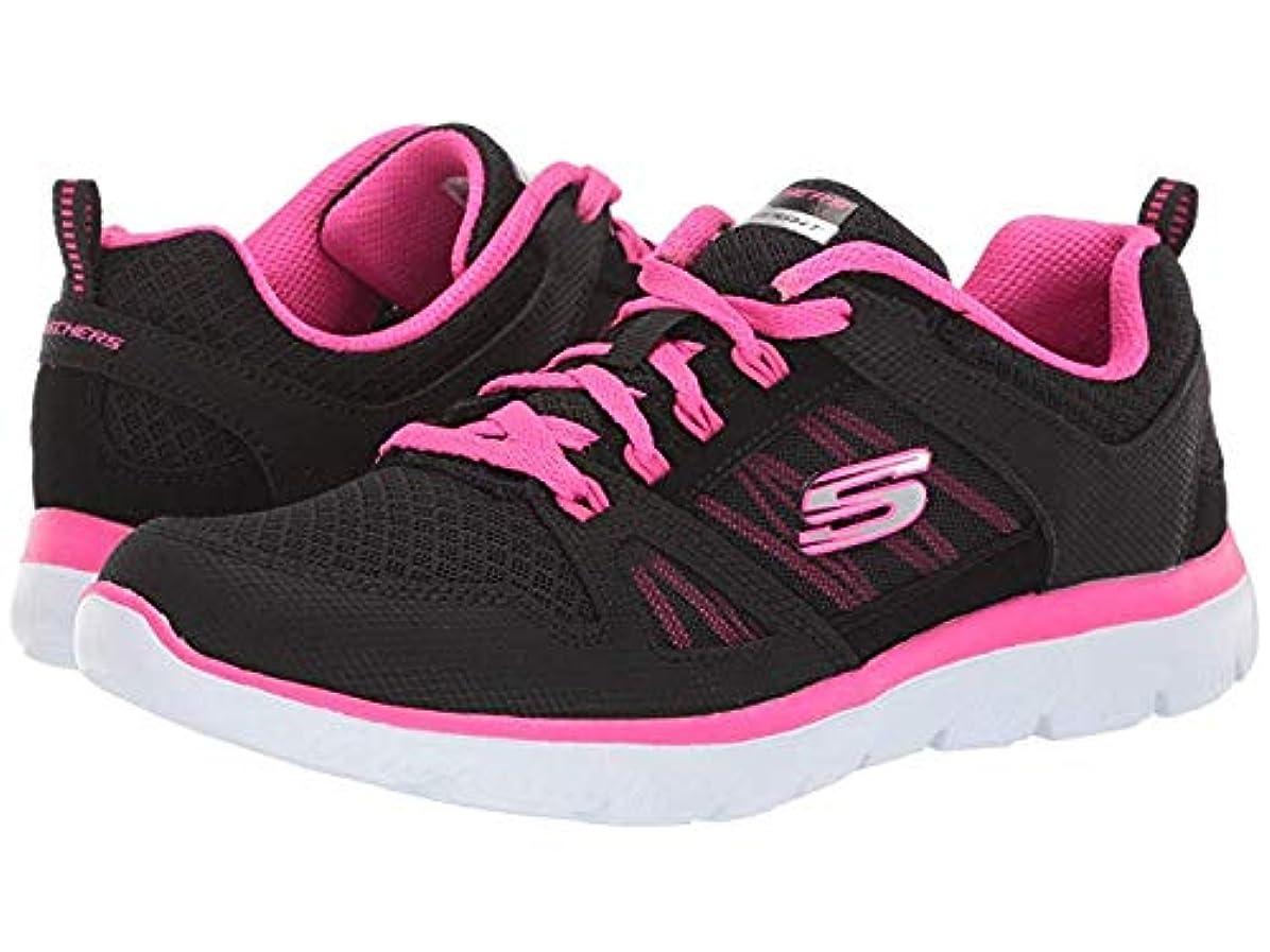 [スケッチャーズ] レディーススニーカー?靴?シューズ Summit - New World Black/Hot Pink US 6.5 (23.5cm) B - Medium [並行輸入品]