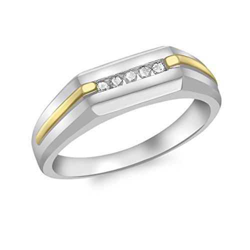 Carissima Gold Anillo de oro bicolor 9K, diamante, talla 19