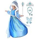 Kosplay Elsa Mädchen Eiskönigin Prinzessinnen-Kostüm, Kostüm, Eiskönigin, Kinder, Cosplay,...