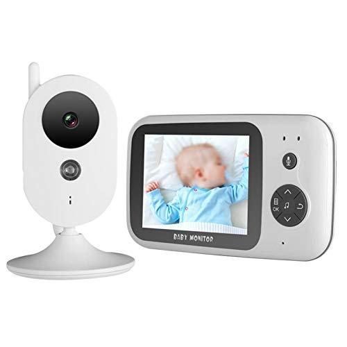 Inalámbrico 3.2 in Baby Video Monitor Visión Nocturna Pantalla LCD Audio bidireccional para vigilancia de bebés(European regulations)