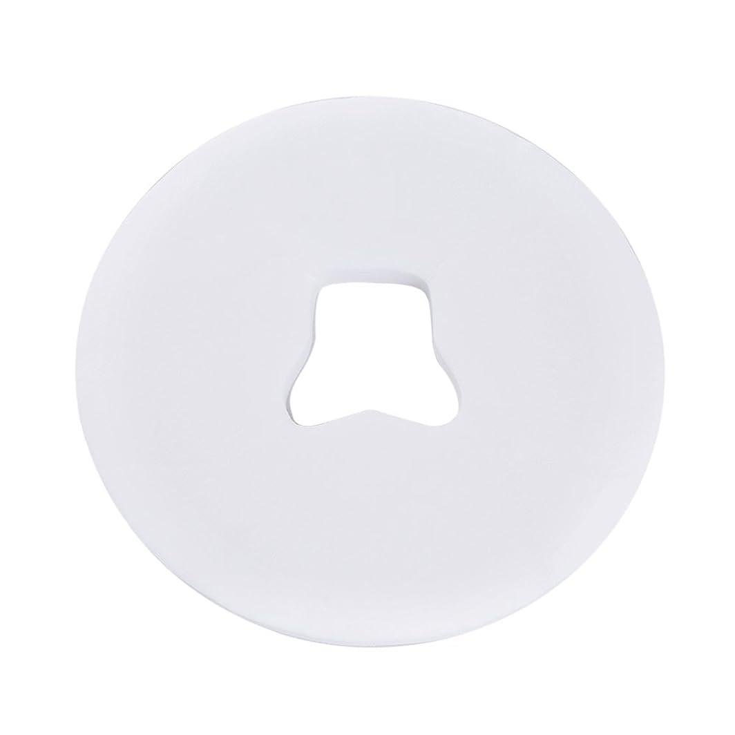 令状ネズミ小麦Decdeal ピローシート スパフェイスパッド 100pcs /バッグ 美容院 ベッドテーブルフェイスホールカバー マッサージシート 使い捨て呼吸 ホワイト