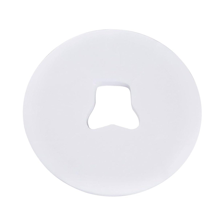消毒剤緑結晶Decdeal ピローシート スパフェイスパッド 100pcs /バッグ 美容院 ベッドテーブルフェイスホールカバー マッサージシート 使い捨て呼吸 ホワイト