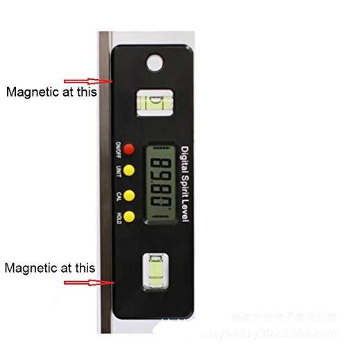 Protractor Digitale hoek sensor elektronische waterpas meetinstrument 360 graden kantelmeter met magneten draagbaar Geel.