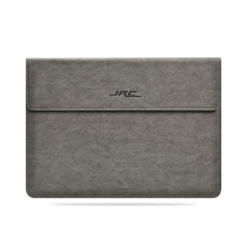 JRCMAX 14 Inch Laptop Sleeve Bag for MacBook 13 Inch, Microsoft Surface Laptop 3 13', All 14' Asus/Dell XPS/Thinkpad X1/Hp/Acer Laptop, Suede Surface Waterproof with Magnetic Clasp -Gray
