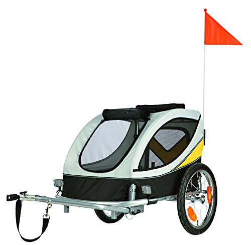 Trixie Trailer Dog Biciclette Grigio Medio