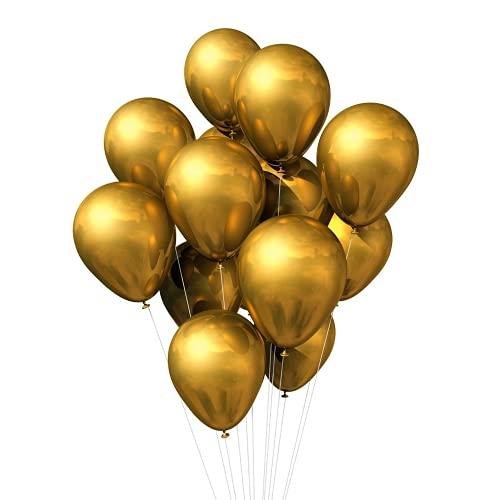 100 Globos Metalizados, Globos Fiesta de 5 Pulgadas, Globo Metalicos, Globos Forma Redonda, Globos Cumpleaños, Globo Látex para Fiestas de Cumpleaños, Bodas, Aniversarios y Celebraciones