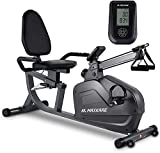 MaxKare Recumbent Exercise Bike Stationary Magnetic Indoor Cycling Bike with Arm Resistance Bands/Easy Adjustable Seat/LCD Monitor/Pulse Rate Monitoring for All Ages Cardio Workout at Home