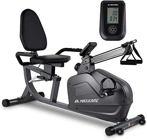 MaxKare Recumbent Exercise Bike Stationary Magnetic Indoor...