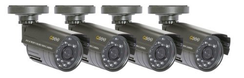 Q-See QSM1424C4 4 Pack of Color Indoor/Outdoor CMOS Cameras with Night Vision up to 40ft