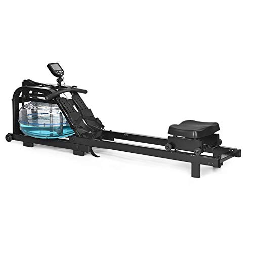 FFitness Rowing Machine Vogatore Idraulico Rematore ad Acqua Unisex con Display Resistenza Idraulica Regolabile