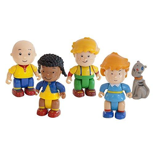 Caillou Mini Mochila con 5 Figuras, Unico (Giochi Preziosi Spagna 02588)