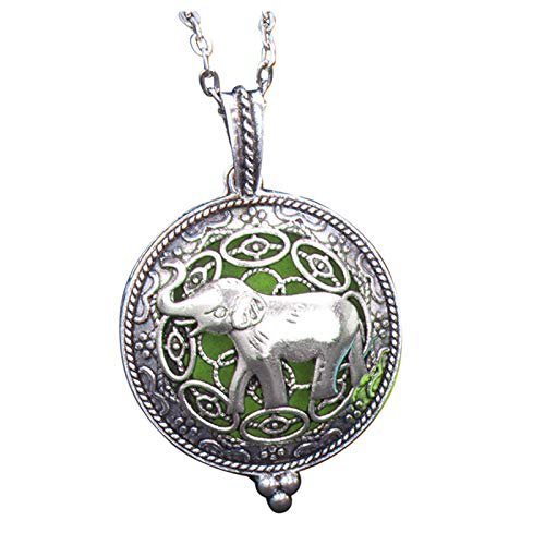 Silver Hollow Alloy Aromatherapy Essential Oil Diffuser Necklace Box Pendant Necklaces & Pendants Jewelry & Watches For Woman Valentine Easter Gift