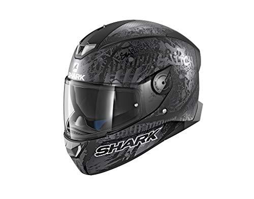 Shark Motorradhelm Hark Skwal 2 Switch Rider 2 Mat, Schwarz, Größe M