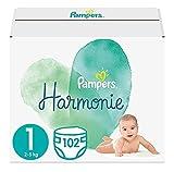 Pampers Baby Windeln Größe 1 (2-5 kg) Harmonie, 102 Stück, HALBMONATSBOX