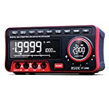 BSIDE Dual Display Digital Multimeter EBTN LCD + Wireless Speaker + Clock 19999 Counts Desktop DMM with 2Pcs 18650 Battery