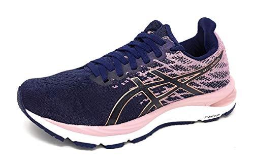 Asics Gel-Cumulus 21 Knit, Road Running Shoe para Mujer, Peacoat/Rose Gold, 37 EU