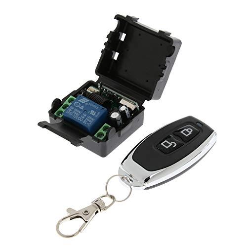 Gazechimp 433 MHz 1CH Relé Interruptor De Control Remoto Inalámbrico Inteligente + Receptor