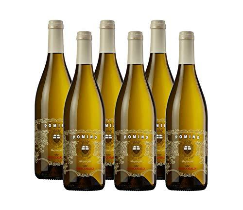 Frescobaldi Pomino Bianco Toskana DOC - trockener, kräftiger und fruchtig frischer Weißwein aus Italien (6 x 0,75 l)