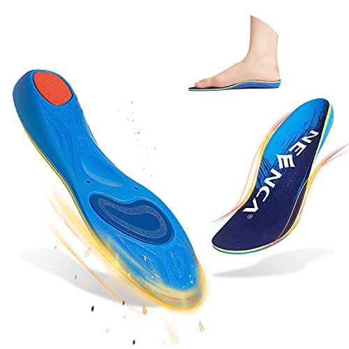 NEENCA Plantar Fasciitis Arch Support Insoles for Men and Women Flat Feet Foot Orthotic Shoe Inserts  Buffer Shock Absorption and Relieve Foot Pain  Fit Athletic and Stand Long Time