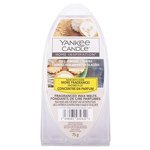 Yankee Candle Home Inspiration Duftwachs Melts, Wachs, Iced Almond Cookie, 75g
