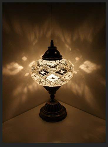 Mosaiklampe Mosaik - Tischlampe L Stehlampe orientalische lampe Silber Samarkand-Lights
