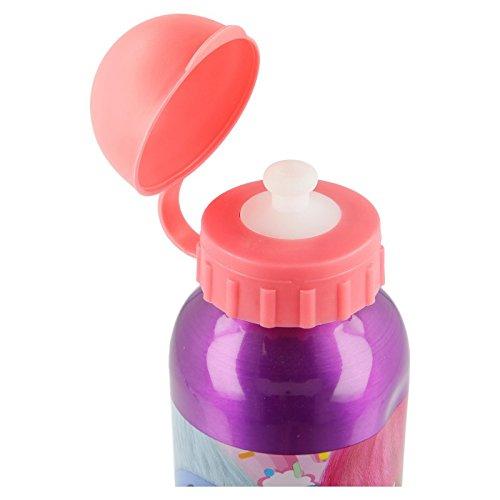 ALMACENESADAN 2560; Botella de Agua de Aluminio Trolls; Capacidad 400 ml