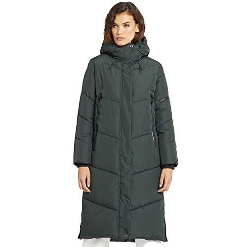 khujo Sonje Damen Mantel Polarmantel Oversized Coat Jacke (Grün, XL)
