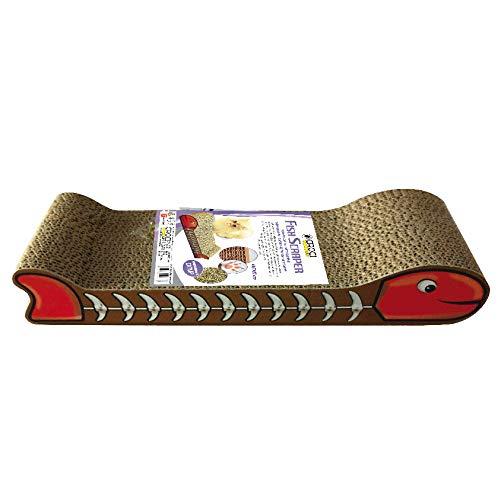 Croci Tira gr affi in Cartone per Gatti Fish cm .44 con Catnip - 220 gr
