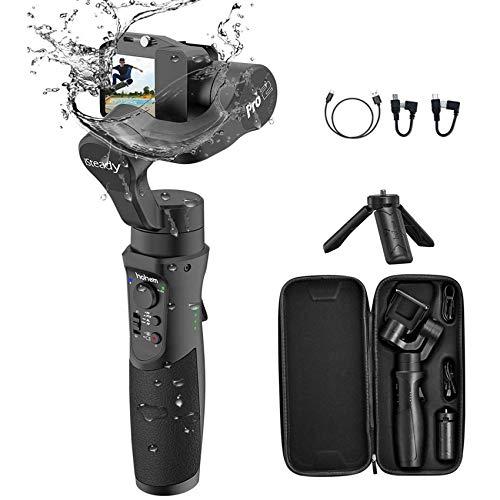 Hohem iSteady Pro 3 Action Kameras Gimbal Handheld Gimbal Stabilisator 3 Achsen Splash Proof kompatibel mit GoPro 8/7/6/5/4/3, DJI Osmo Action,RX0, AEE, SJCAM, YI-CAM, Zeitraffer, 12 Stunden