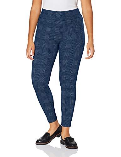 ESPRIT Damen Tweed Check Strumpfhose, blau (Navy Mel. 6127), M (DE 38-40)