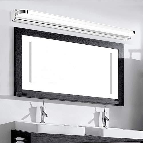 WHITNEY KEIN Bohren LED Spiegelleuchte, Bad LED-Spiegel Frontleuchte wasserdichte Make-up Beleuchtung Lampe, Einfache Installation Badewanne Wandleuchte,White (White Light)-50cm(12W)