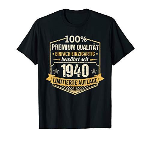 80. Geburtstag Jahrgang 1940 Mann Frau Einzigartig Geschenk T-Shirt
