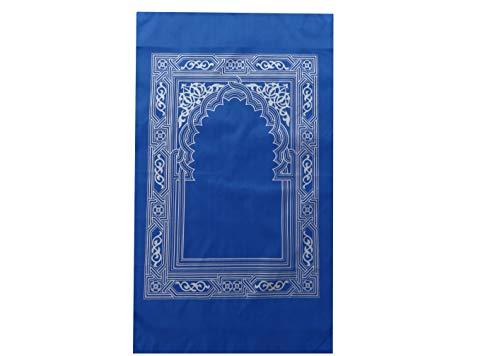 mekkaMedina Namaz Reiseteppich IN 5 Farben zur Auswahl mit Kompass in TOP QUALITÄT islamischer Gebetsteppich Outdoorteppich für unterwegs Prayer Rug Muslim Teppich WASSERDICHTES Material