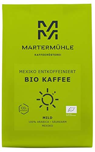 Martermühle | Bio Kaffee Mexiko entkoffeiniert (500g) | Gemahlen | Premium Kaffeebohnen aus Mexiko | Schonend geröstet | Filterkaffee säurearm | 100% Arabica