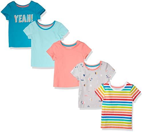 Amazon Essentials Short-Sleeve Fashion-t-Shirts, 5-Pack Yeah, 8 Jahre, 3er-Pack