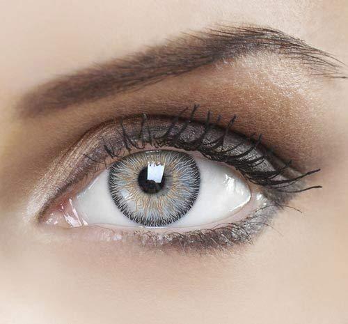 Farbige Kontaktlinsen, Ohne Stärke, Jahreslinsen, Natürlich Grau
