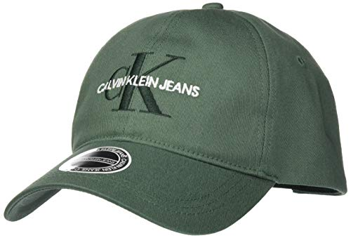 Calvin Klein Jeans Monogram Cap Embro Gorra de bisbol, Verde Pato, One Size para Hombre